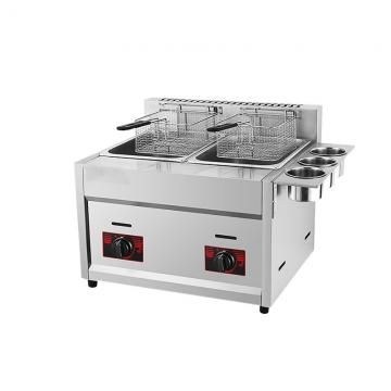 Contact Supplier Chat Now! 2 Baket Double Tanks Kitchen Use Stainless Steel Commercial LPG Gas Deep Fryer for Restaurant